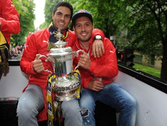 Mikel Arteta et Santi Cazorla ont passé quatre saisons ensemble à Arsenal