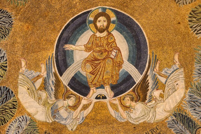 Paleochristian mosaic of the Ascension of Jesus Christ