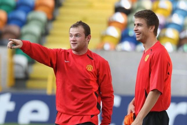 Manchester United legend Wayne Rooney and Gerard Pique