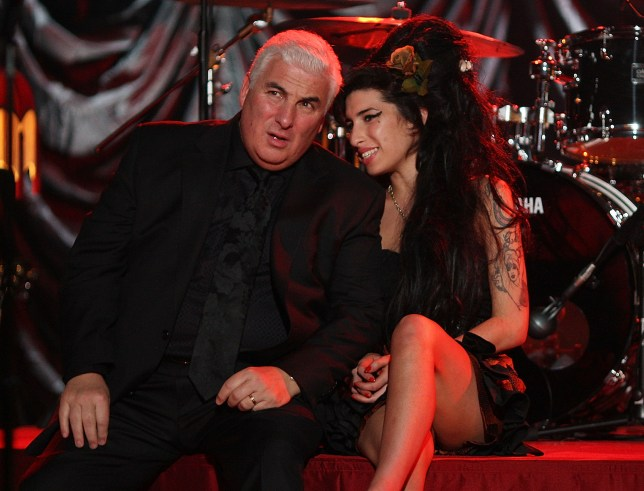 Amy Winehouse and Mitch WInehouse