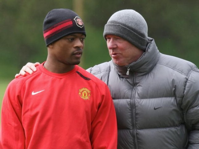 Patrice Evra was reprimanded by Sir Alex Ferguson (Picture: Getty)