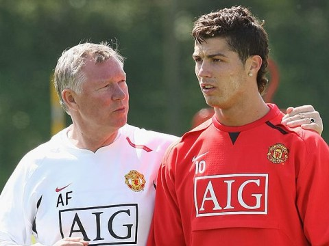 Sir Alex Ferguson forced to stop Manchester United training after a fight between Cristiano Ronaldo and Ruud van Nistelrooy