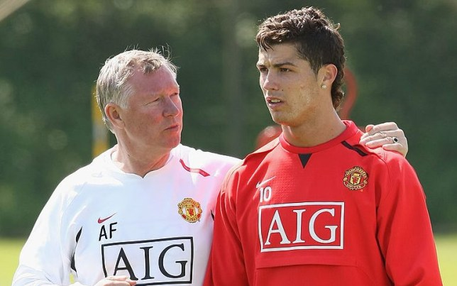 Sir Alex Ferguson stopped a Manchester United training session because of Cristiano Ronaldo