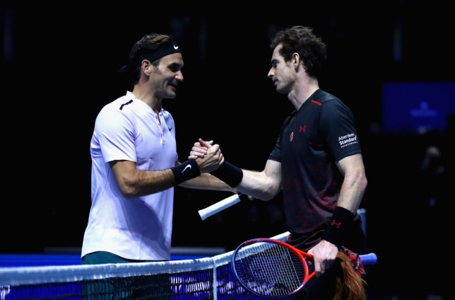 Andy Murray congratulates winner, Roger Federer on victory