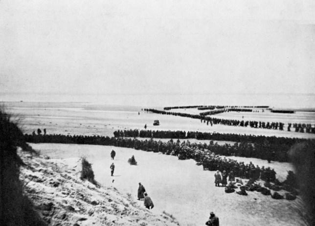 La retraite britannique de Dunkerque pendant la Seconde Guerre mondiale.