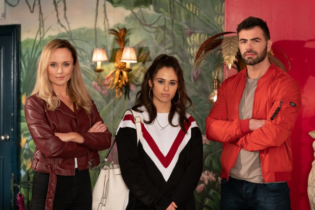 Cher and Sylver McQueen and Kelly in Hollyoaks