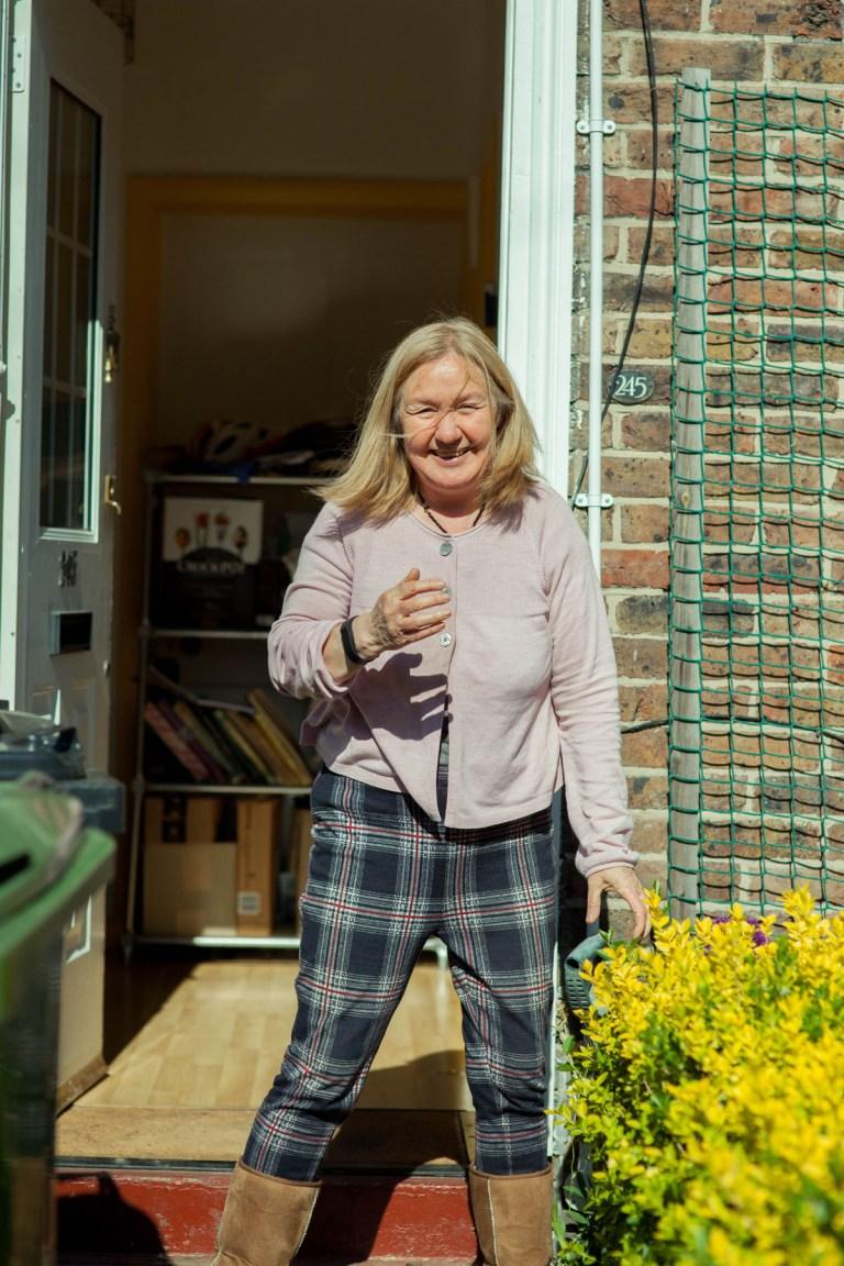 Fran Nelson's doorstep portraits:piano teacher Debby