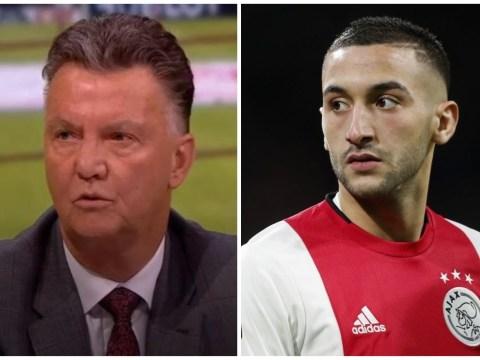 Louis van Gaal rates Chelsea's decision to sign Hakim Ziyech from Ajax