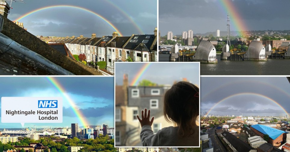 Amazing double rainbow wows London shortly before NHS clap