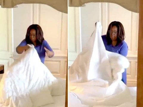 Oprah Winfrey struggles to change her own bed sheets during lockdown and for some reason we can't stop watching