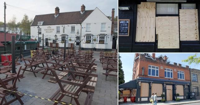 Composite of closed pubs