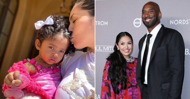 Vanessa and Kobe Bryant, and baby Capri