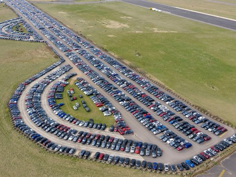The £35,000,000 car park where vehicles are lined up as sales plunge 97%