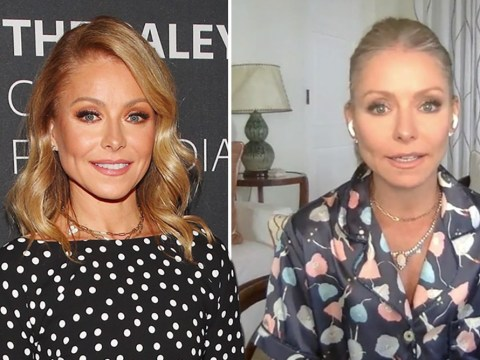 Kelly Ripa shows off her grays and says she 'desperately' needs a haircut after trimming with kitchen scissors