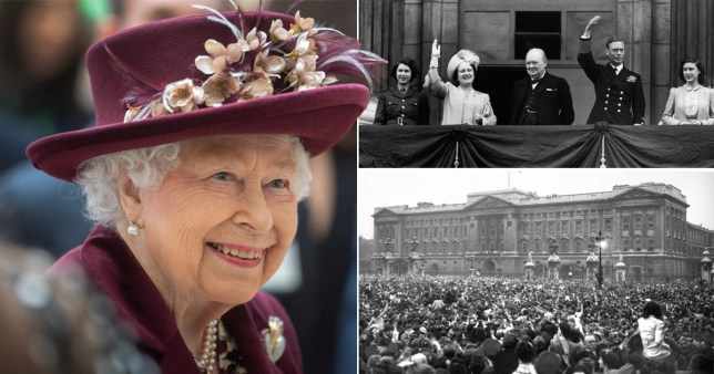 Her recollections of the original VE Day from 1985 were shared today