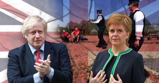 Boris Johnson and Nicola Sturgeon are at odds over when and how to lift lockdown