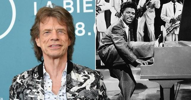 Mick Jagger and Little Richard