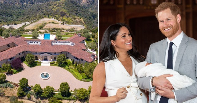 The couple are staying at Tyler Perry's mansion in LA