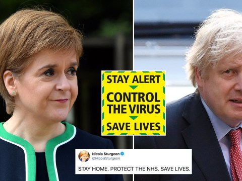 UK in lockdown chaos as Scotland, Wales and Northern Ireland reject new 'stay alert' slogan
