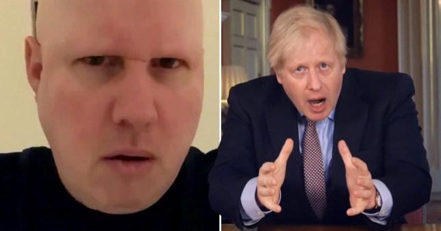 Matt Lucas mocks Boris Johnson speech