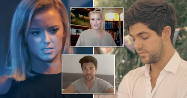 Made In Chelsea's Olivia Bentley and Alex Mytton watch back scenes from the show via video link