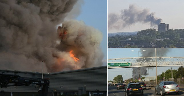 A huge fire broke out at an industrial warehouse in Barking