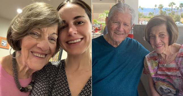 Grandma with new partner and granddaighter