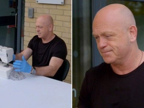 Ross Kemp gets behind sewing machine to help coronavirus volunteer: 'I'm completely out of my comfort zone'