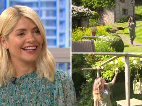 Inside Kelly Brook's garden: Holly Willoughby stunned at model's beautiful countryside pad