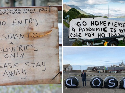 Tourists told 'go home this is not a holiday' in signs at beauty spots