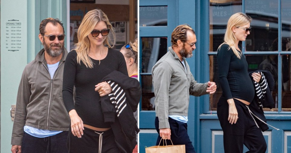 Jude Law Expecting Sixth Child As Wife Phillipa Seen With Baby Bump Metro News