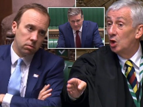 Matt Hancock threatened with being kicked out of PMQs during clash over care homes
