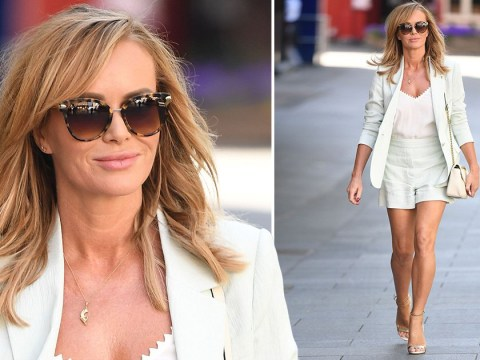 Amanda Holden puts us all to shame with her lockdown outfit as she heads to work in the sunshine