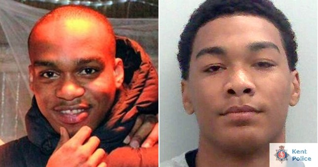 Vasilios Ofogeli (right) was found guilty of the murder of Andre Bent (left) outside a rap gig in August last year