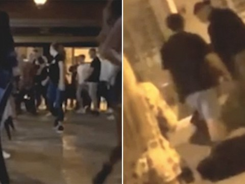 Brits fight in the street in Malaga two days after pubs reopen