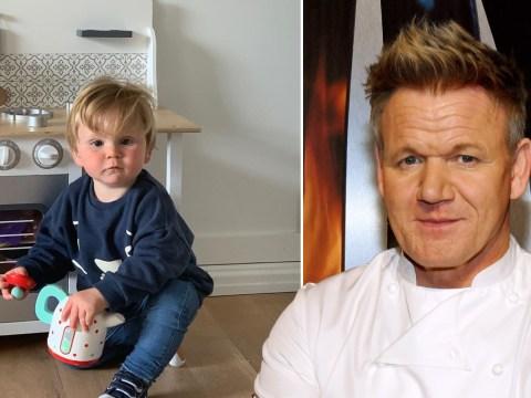 Gordon Ramsay's son Oscar follows in his culinary footsteps in adorable snap