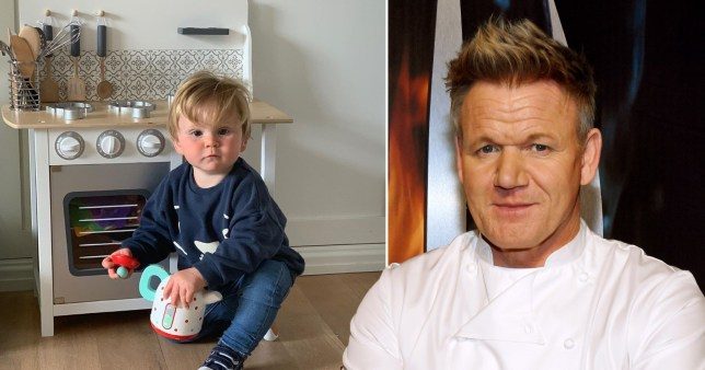 Gordon Ramsay and son Oscar