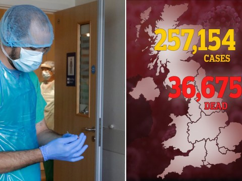 UK death toll hits 36,675 as another 282 lose lives to outbreak