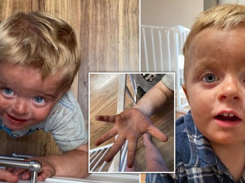 Mum desperately asks for solutions after two-year-old son lathers 'ultra dark' fake tan instead of soap