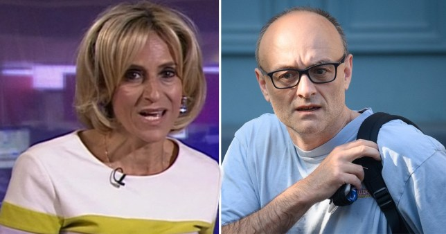 Emily Maitlis and Dominic Cummings comp
