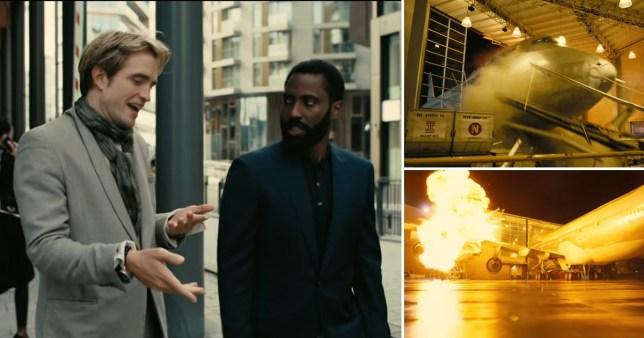 Robert Pattinson and John David Washington in Christopher Nolan's Tenet