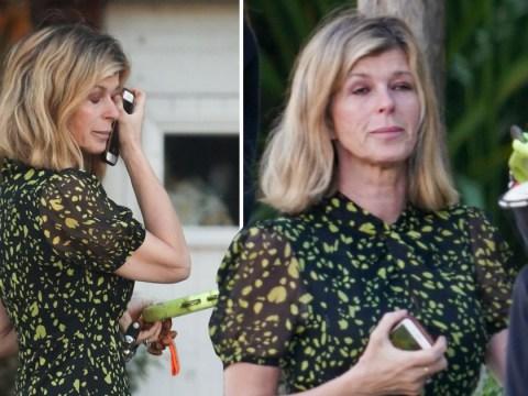 Kate Garraway wipes away tears as she 'stays strong for kids' amid husband Derek Draper's coronavirus battle