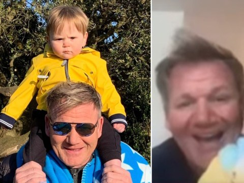 Gordon Ramsay's 1-year-old son Oscar crashes Kelly Clarkson interview and it's the cutest thing ever