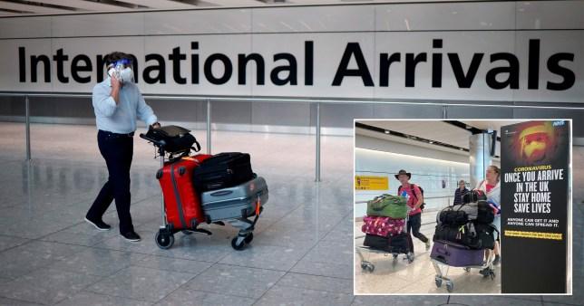 uk arrivals monitored