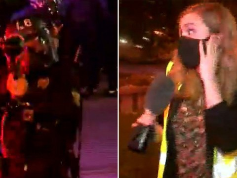 Police fire pepper balls at reporter live on TV during Louisville protests