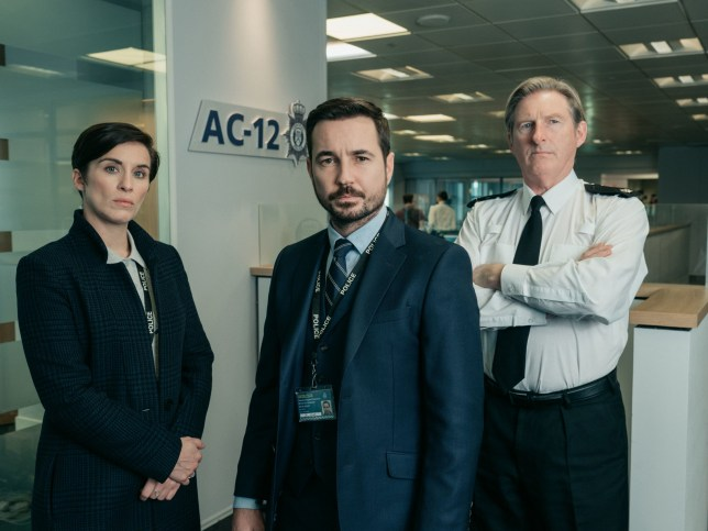 Undated handout photo issued by World Productions/BBC One of Vicky McClure, Martin Compston and Adrian Dunbar from Line of Duty. The body which promotes Northern Ireland as a filming location is celebrating after the region hosted three of the most talked about TV shows of 2019. PA Photo. Issue date: Monday December 23, 2019. These included the second series of Derry Girls which was filmed on location around Northern Ireland as well as fifth instalment of Line of Duty filmed mostly in Belfast. And HBO???s Game of Thrones brought its stars back to Belfast in April for the European premiere of its??? final season. See PA story ULSTER Filming. Photo credit should read: World Productions/BBC One/PA Wire NOTE TO EDITORS: This handout photo may only be used in for editorial reporting purposes for the contemporaneous illustration of events, things or the people in the image or facts mentioned in the caption. Reuse of the picture may require further permission from the copyright holder.