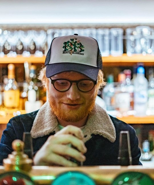 Ed Sheeran, Bertie Blossoms in Notting Hill (Picture: Ed Sheeran/Instagram)