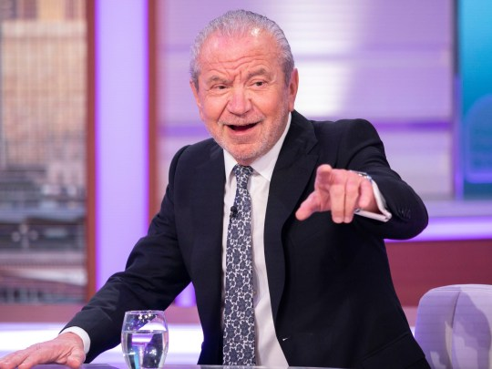Editorial use only Mandatory Credit: Photo by S Meddle/ITV/REX (10142300cc) Lord Alan Sugar 'Good Morning Britain' TV show, London, UK - 06 Mar 2019 LORD SUGAR - EMMA Piers is back with his sparring partner to talk about Comic Relief Does The Apprentice, which returns following a ten year break with Richard Arnold joining the celebs in the boardroom * DESK: Lord Sugar