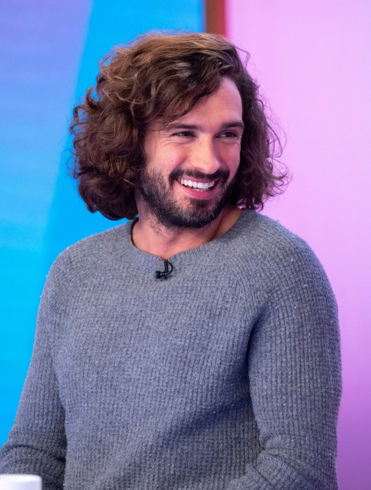 Editorial use only Mandatory Credit: Photo by Ken McKay/ITV/REX (10050524as) Joe Wicks 'Loose Women' TV show, London, UK - 07 Jan 2019 GUEST: 'THE BODY COACH' JOE WICKS Here with buckets of ?New Year, new me? motivation is the ?The Body Coach? himself! Joe Wicks is an online nutrition coach and internet sensation that has changed the lives of millions with his simple exercise and diet tips. 2018 was a milestone year for Joe, as he got engaged, had a baby daughter, and even released his first ever vegetarian cookbook! Joe joins us to talk veggie treats, new year's resolutions and avoiding ?dad-bod?.