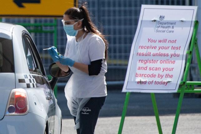 Coronavirus testing continues at Edgbaston Cricket Ground,
